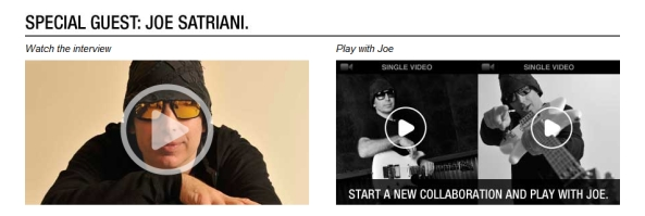 Play with Joe Satriani on Veenue.com !